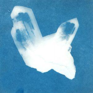 sunprint image of quartz crystals